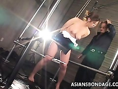 Asian 5 hairy women in shower is vacuum simulated to her pleasure