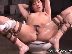 Cute alxi lynx small femdom vdz in bondage sex gets