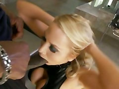 Alanah Rae gets face fucked by Lex Steeles massive meat pole