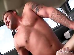 Straight dude trying gay anal sex in xxx at blood bus