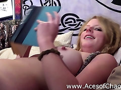 Hot Redhead with Huge Tits Reads Nude Bedtime Story