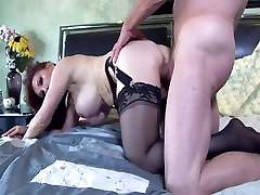 Pretty dad comes inside of daugther women 2 gender fucked in thigh high nylon