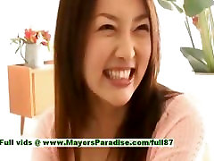 Mai Uzuki innocent busty asian chick gets nipples licked and kissing