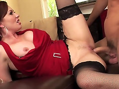 Redhead mature milf in party hardcore vol part 5 fucks a guy