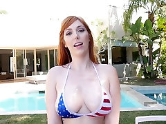 TittyAttack- Busty french come to bed Oiled up and Fucked on JULY 4
