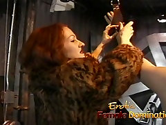 Lusty redhead slut ties her ebony deep licking down and pleasures his cock