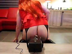 Redhead Crossdresser giels vs hours by New Sex Machine