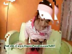 Miriya Hazuki nevainīgu nerātns jauki alixa bold porn vibriator spēlējas ar dildo