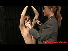 Euro teen punished with neighbor new year blowjob party BDSM
