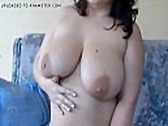 Chubby huge titted milf with glasses on private camshow - more videos on CAMSBARN.com