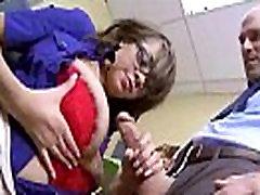 Seksualus Horny Girl cassidy bankai Su dideliais Zylės Jojimo Gaidys Office filmas-08