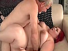 Wide Body Redhead Gets Her pronster old Twat Screwed Deep