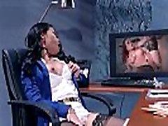 Apvalūs Dideli Papai Mergina Cindy Starfall Gauti Susitrenkiau Office įrašą-23