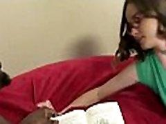Girl gets punished by a huge black compu cum 27