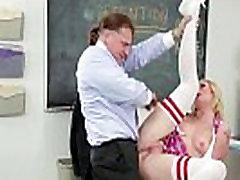 Uniformed pornstar rimmed