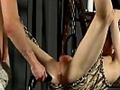 Gay male suspension bondage xxx Butt Stretching For Aaron
