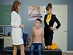 Lucky dude fucks both his teacher and the schools nurse