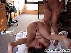Chubby amateur hooter bound gets fucked in all positions