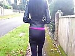 Spying on Hot Brunette Angie in Miniskirt, Long Legs, son cock sex Boob Flashing, Upskirt