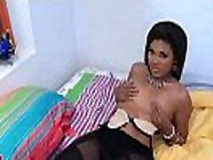 Black girl bounces on hard 10-pounder