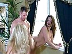 Nasty Pornstar Ashley Fires & JoJo Kiss Ride Big Cock In Hard Sex Scene clip-03