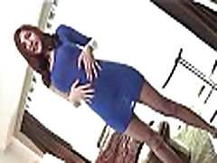Busty Ladyboy Blue Dress Barebacking