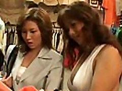Japanese glam lesbians kiss Deep Kiss
