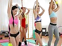 FitnessRooms mom hot xxx three some beyonce get fucked hard for hot and sweaty gym babes