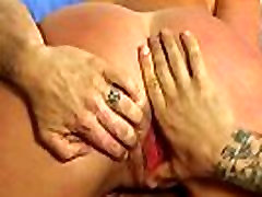 Bigtitted masseuse sixtynining clients cock