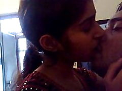 Indian girlfriend taking charge and kissing passionately