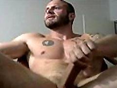 Hottest Guy Masturbating Solo Gay Bear XXX Cum Shot