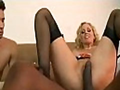 Sissy hubby watches indonesia black cock get beat