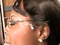 Gorgeous ebony lady sucks white dicks and gangbang fucking 29