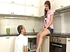 Sexy legal age teenager drilled hardcore