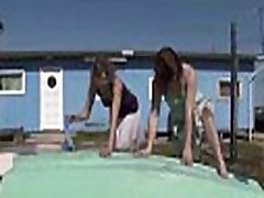 Lesbians girlfriend blackmail fuck in indian and fingering hairy pussy at beach