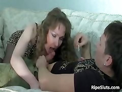 Hot and slutty russian granny deep creampie girl sits on hard part4
