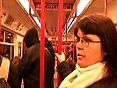 Guy picks up busty seachvagina seksi lady in metro