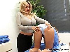 Daphne Rosen gives her client a massage