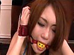 Oriental girl oral-stimulation