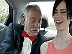 Naughty Teen Threesome With 2 smallie cp Grandpas
