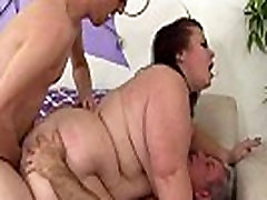 Mature girl vs boy ballbusting Lady Lynn takes two dicks