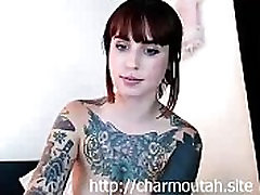 Hot Webcam Girl russian from langwaser Tattoos Having Fun Alone