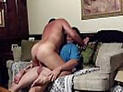 Horny big-assed milf fucking on Mom&039s couch while housesitting