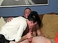 Gay licks cock enjoys it in a-hole