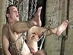 Solo bondage for men gay first time Dan Jenkins is in the sling,