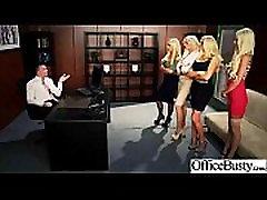 Ured djevojke Courtney godišnje Nikki Nina s ogromnim dinje sise učiniti hardcore sex video-11