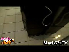 Black chick rides hard ramrod