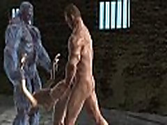 Sexy 3D futa milf whores babe gets fucked hard by two mutants