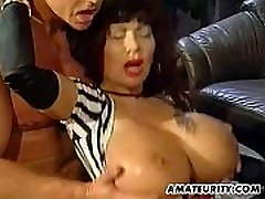 Busty amateur mom foursome with factory sex video on tits