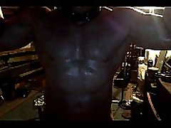 Muscle slave Posing After a Sweaty Workout
